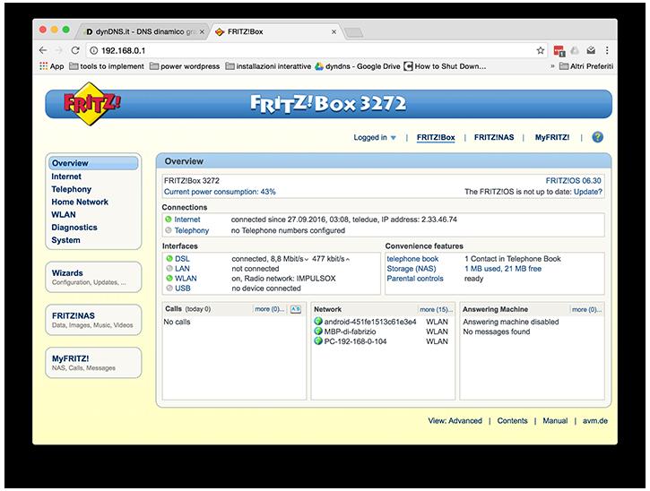 Configurazione dynDNS.it per AVM Fritz!Box - dynDNS.it - DNS dinamico gratuito