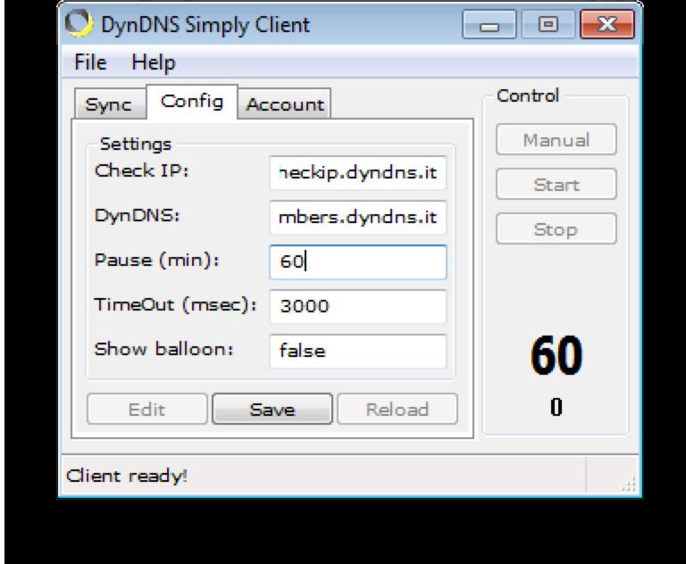 Configurazione dynDNS.it per dyndns Simply Client - dynDNS.it - DNS dinamico gratuito